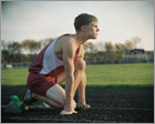 Graduation Portrait at sunrise for cross country runner
